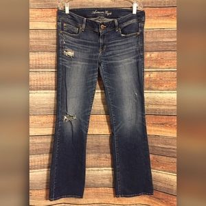 American eagle distressed slim boot jeans